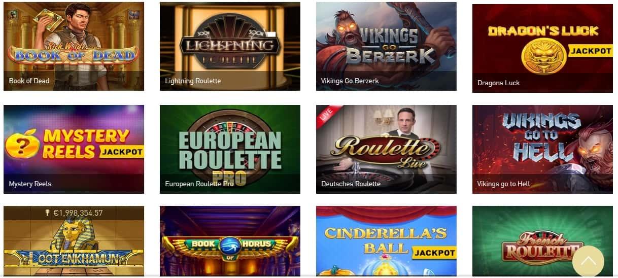 Casino Club beliebte Spiele
