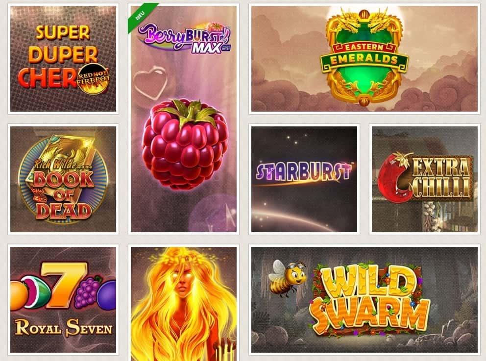 Cherry Casino beliebte Spiele