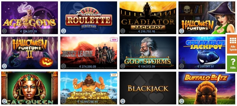 Winner Casino beliebte Spiele