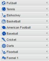 Angebot an Sporttwetten von Mybet