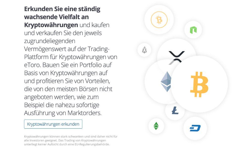 eToro - Kryptowährungen