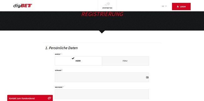 DE Digibet Registrierung 2.1