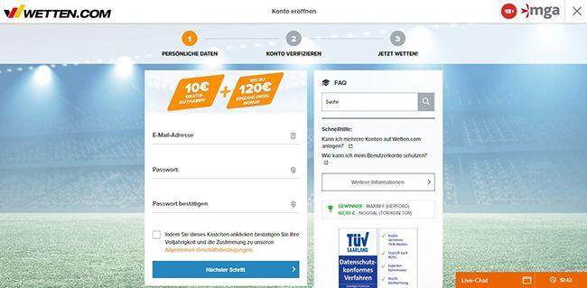 DE Wettencom Registrierung 2.1