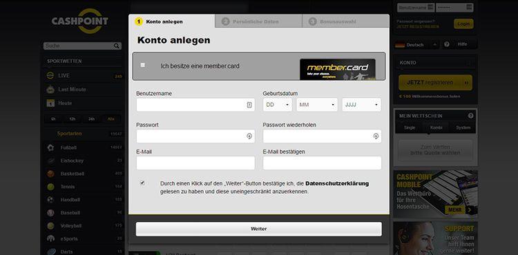 DE Cashpoint Registrierung 2.1