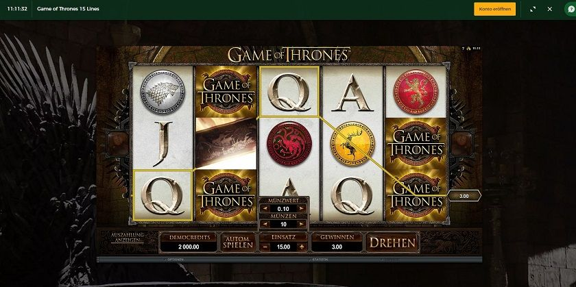 Slot Spiel Game of thrones