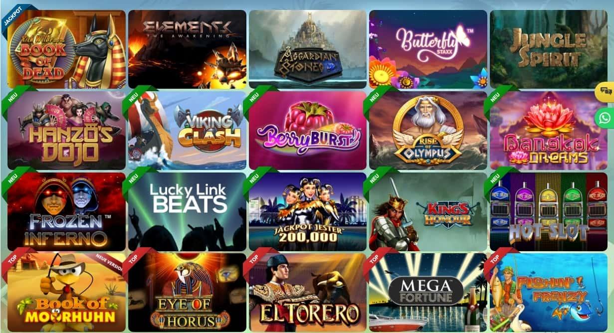 Sunnyplayer Casino beliebte Spiele