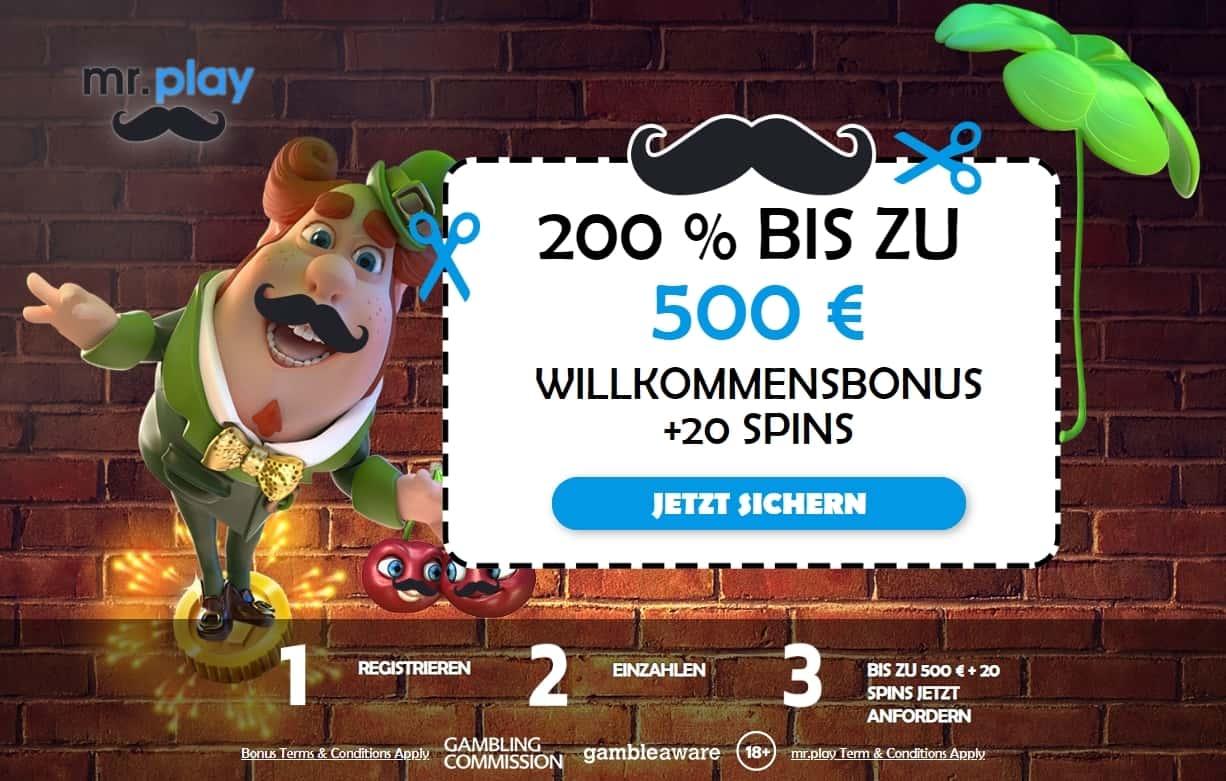 Mr Play Bonus Seite