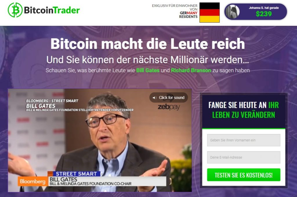 Bitcoin Trader Startseite