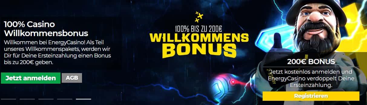 Energy Casino Bonus Seite