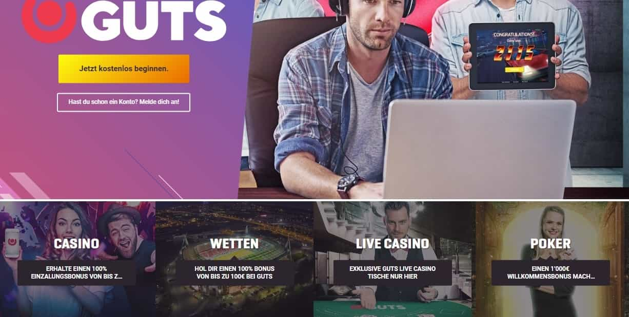 Guts Casino Bonus Seite