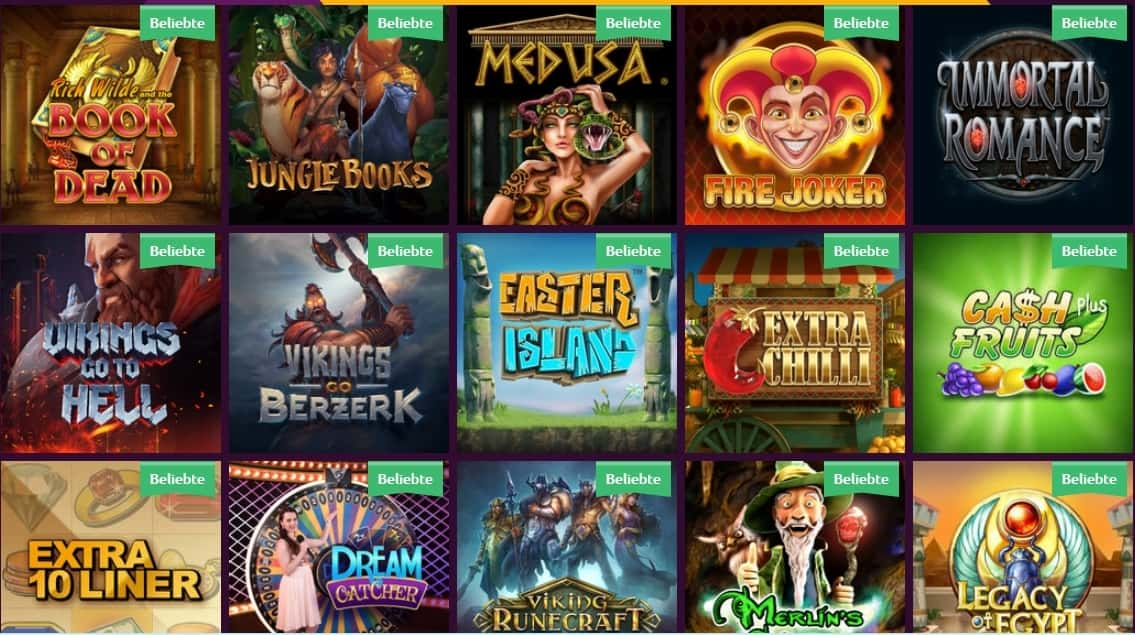 Slots Magic beliebte Spiele