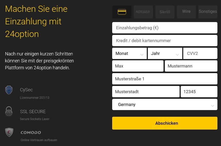 Ethereum kaufen: Erst einzahlen, dann handeln