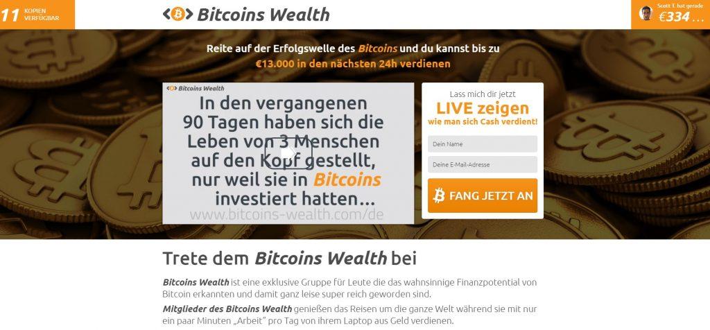 bitcoins wealth