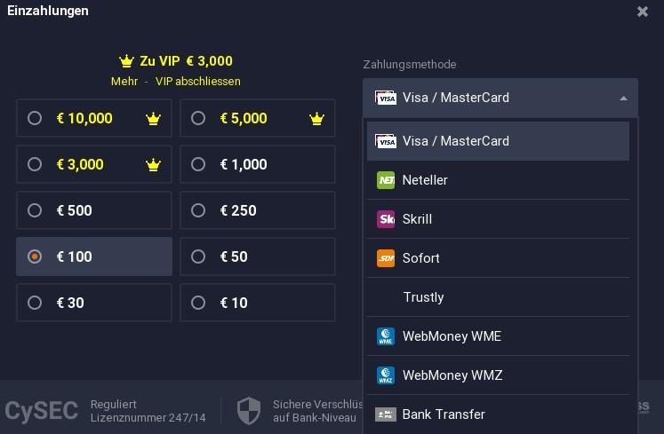 Ethereum kaufen: IQ Option akzeptiert verschiedene Einzahlungsmöglichkeiten