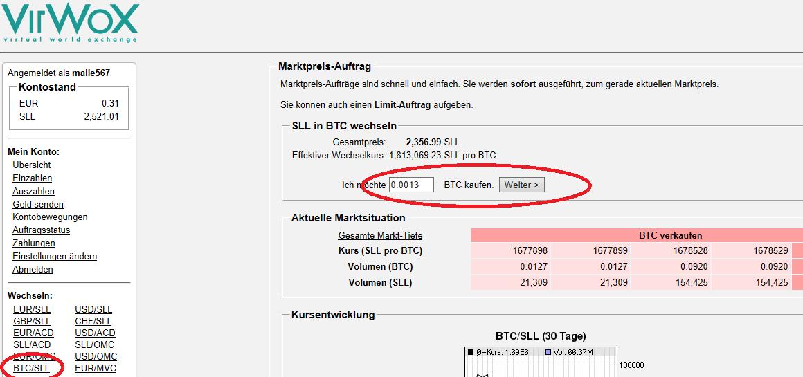 Bitcoin kaufen mit VirWoX: Linden Dollar machen´s möglich