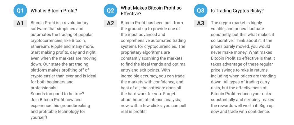 Bitcoin Profit FAQ