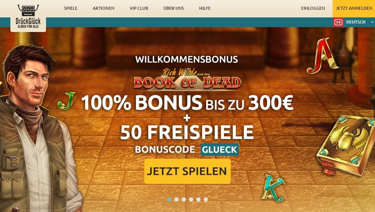 DrückGlück Bonus Seite