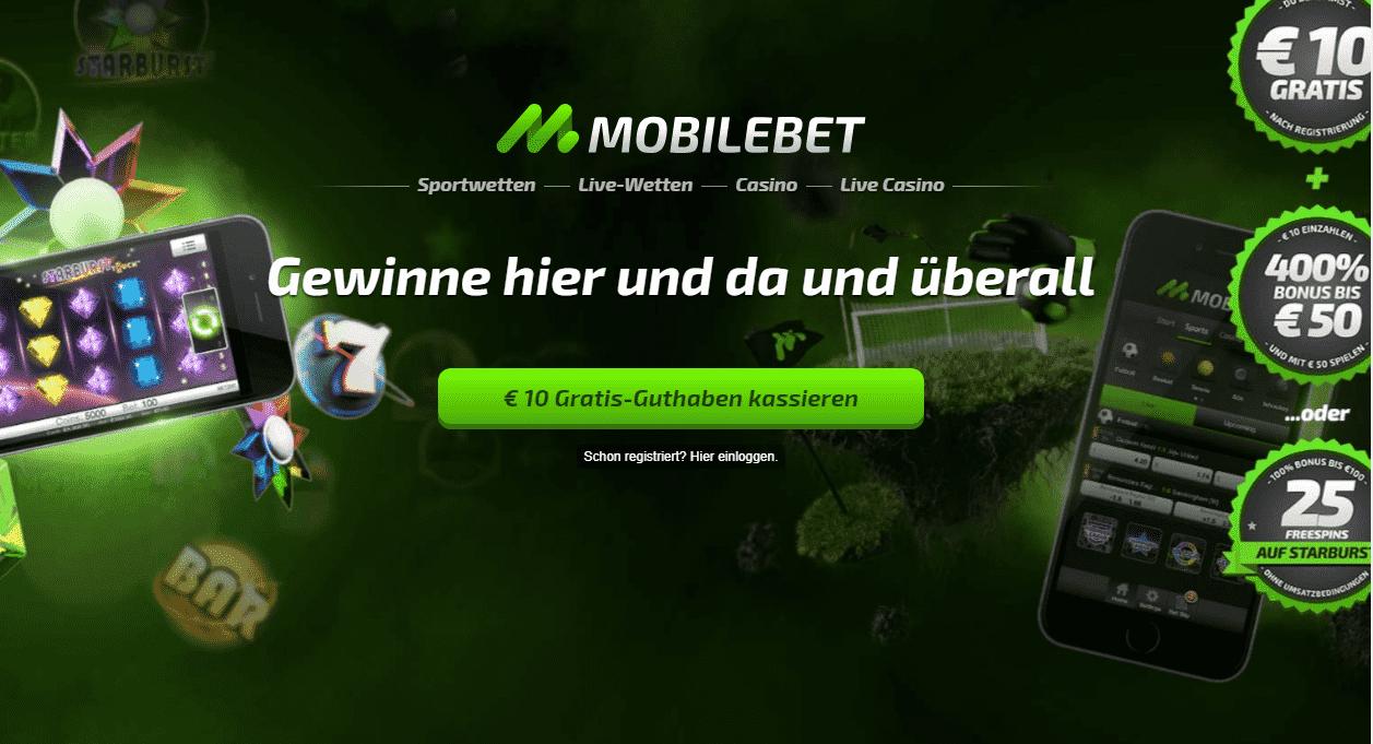 Mobilbet Bonus Seite