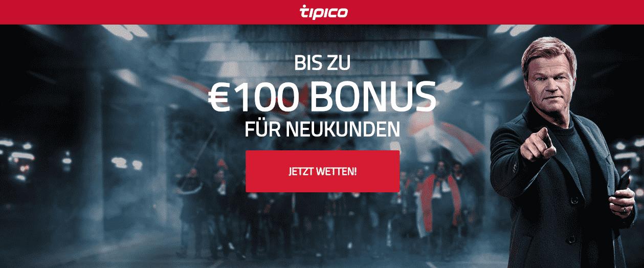 Tipico Bonus Seite