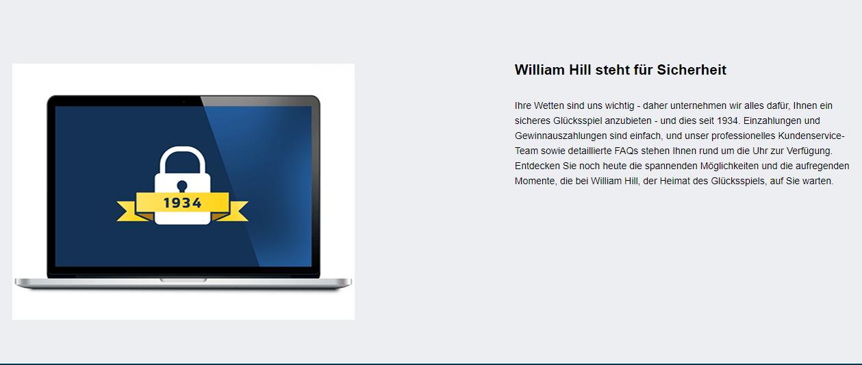 William Hill Sicherheit