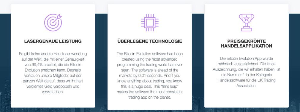 Bitcoin Evolution Vorteile