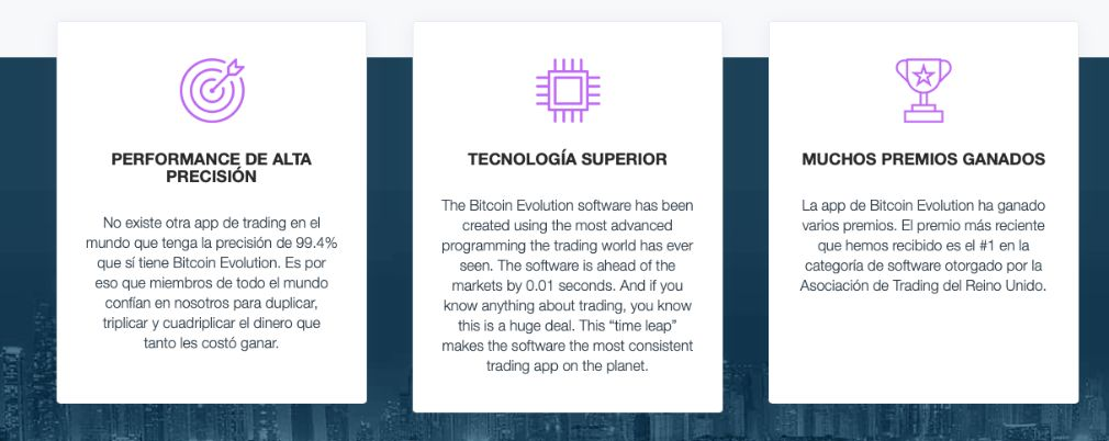 Bitcoin Evolution Ventajas