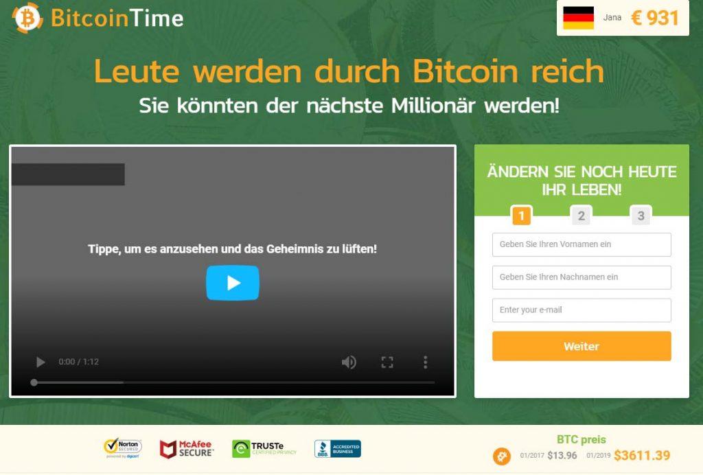 Bitcoin Time Erfahrungen