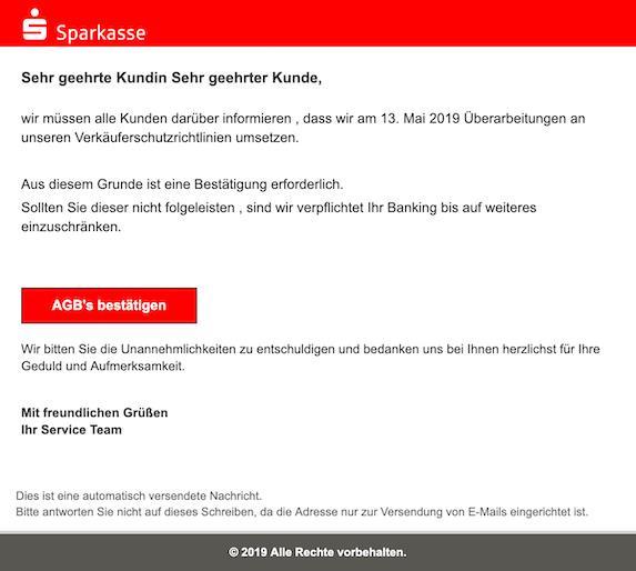 Quelle:   https://www.onlinewarnungen.de/warnungsticker/sparkasse-neue-betrugs-nachricht-wichtige-kundendurchsage/