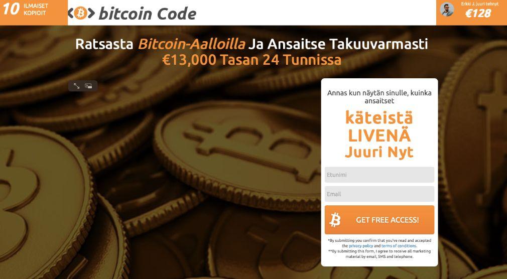 Bitcoin Code kokemuksia