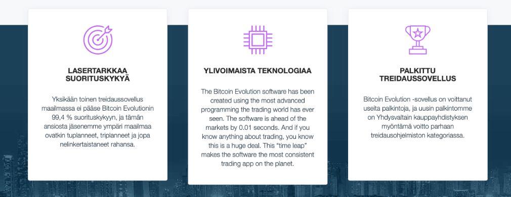 Bitcoin Evolution hyötyjä