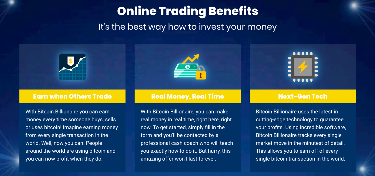 Bitcoin Billionaire korzyść