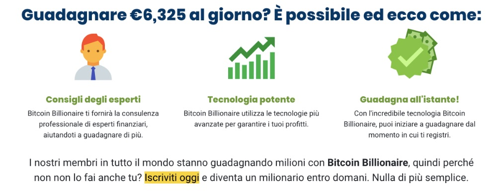 Bitcoin Billionaire successo
