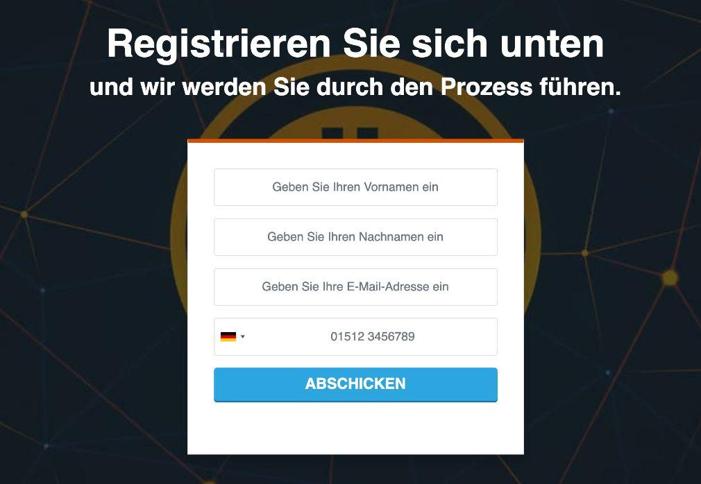 Bitcoin Profit Registrierung