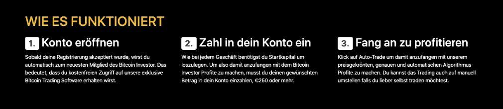 Bitcoin Investor Konto eröffnen
