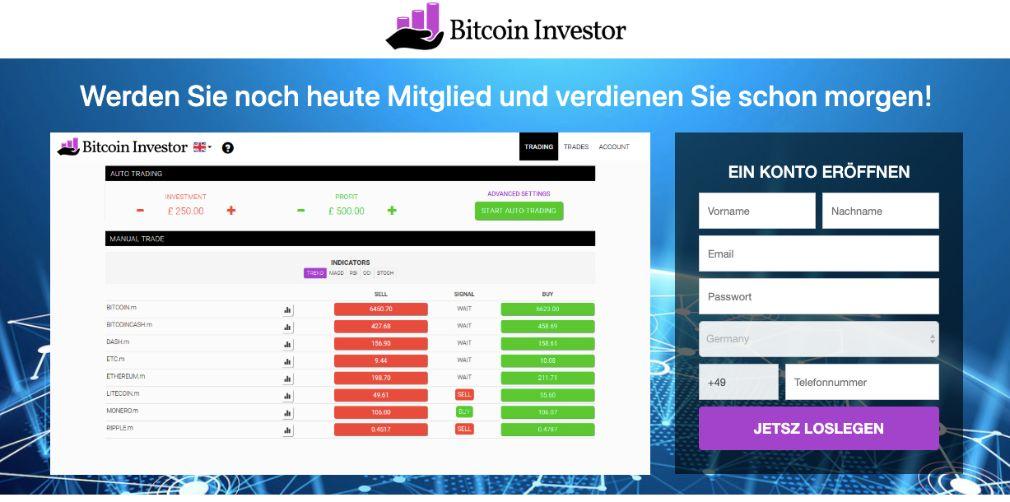 Bitcoin Investor Erfahrungen & Test