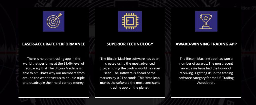 Bitcoin Machine Merkmale