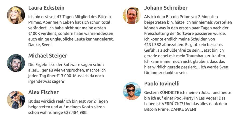 Bitcoin Prime Mitglieder
