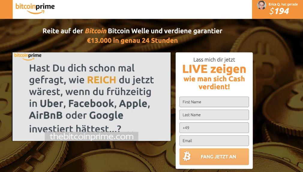 Bitcoin Prime Erfahrungen & Test