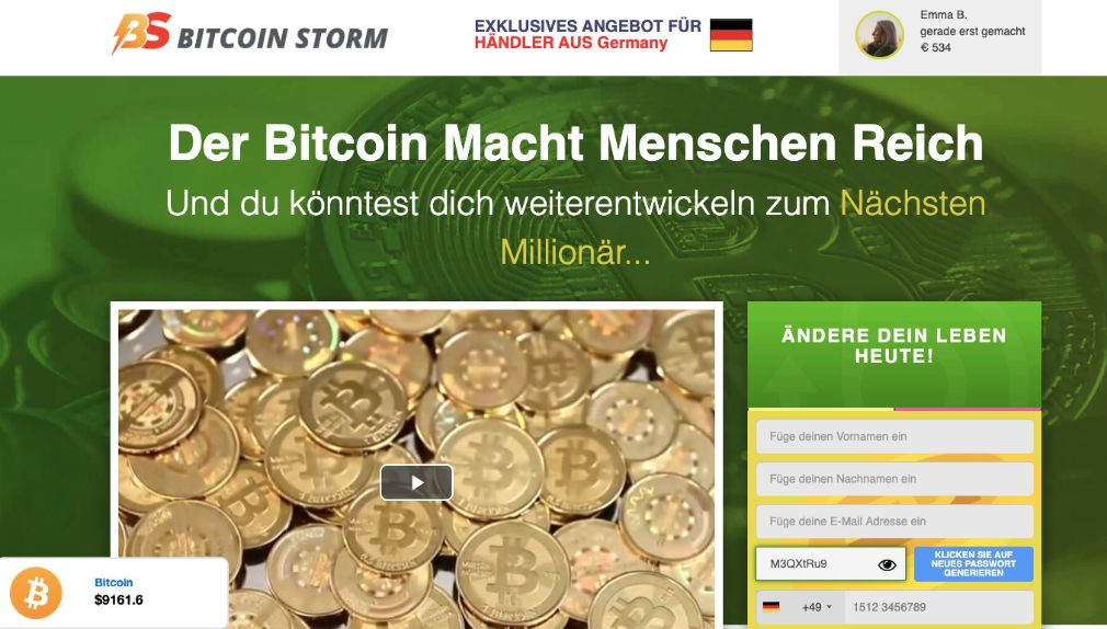 Bitcoin Storm Erfahrungen & Test