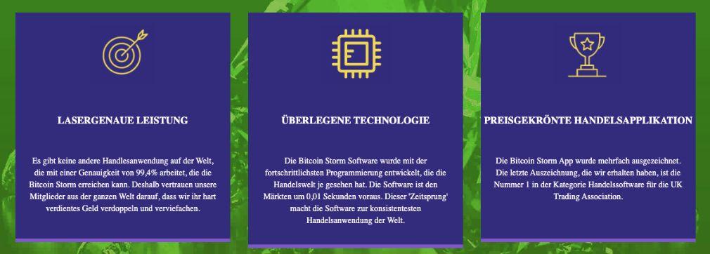 Bitcoin Storm Merkmale