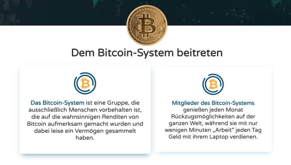 Bitcoin System anmelden