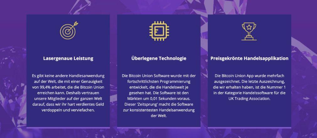 Bitcoin Union Merkmale