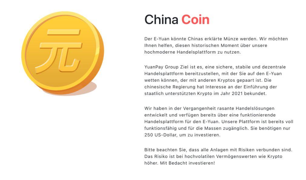 Yuan Pay Group - der China Coin